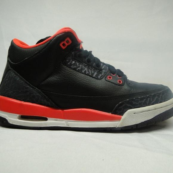 best sneakers d6ab0 4f4ce 398614 005 NIKE AIR JORDAN III 3 RETRO BLK CRIMSON